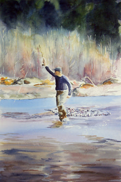 Fly Fisherman Giclee