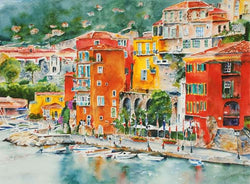 French Riviera Harbor Giclee