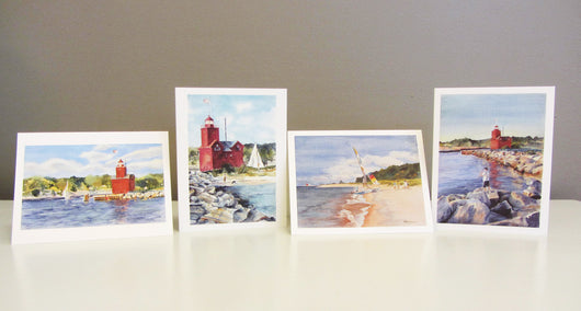 Lake Michigan and Big Red Edition 2 Note Card Set