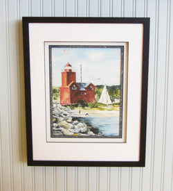 Ottawa Beach Day Giclee Framed Shadowbox