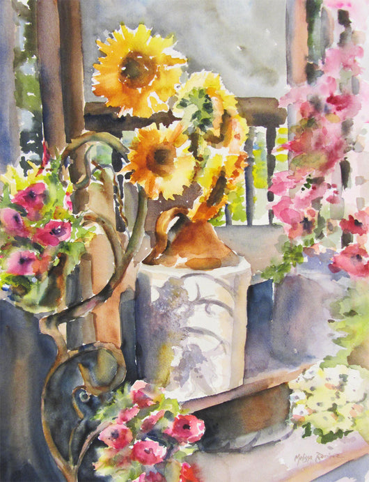 Shadow of Summer Watercolor Painting