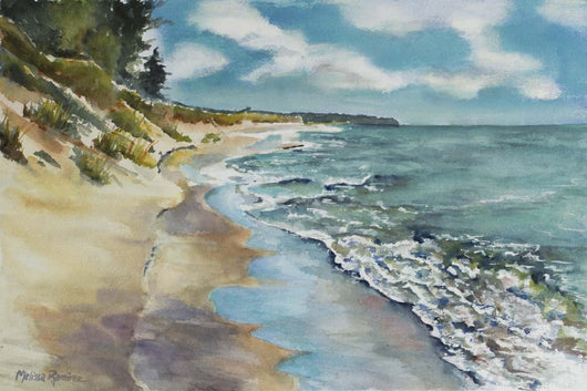 Lake Michigan Shore Morning Giclee