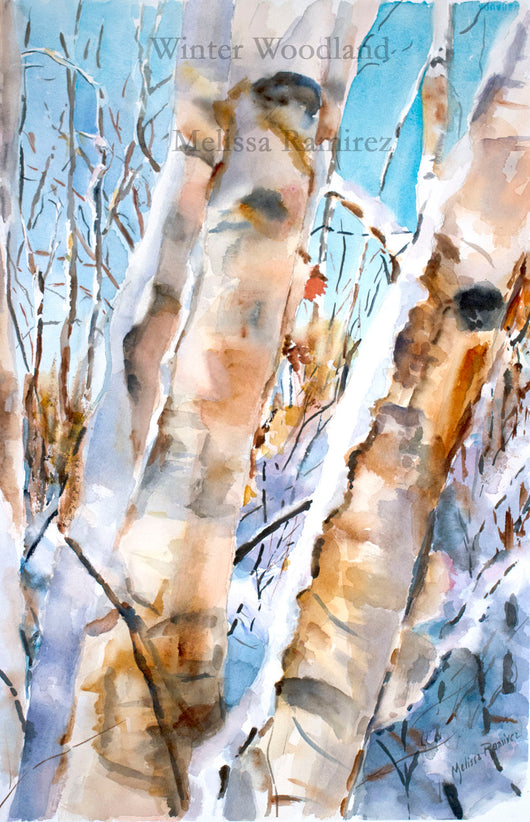 Winter Woodland Giclee