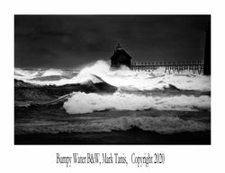 Bumpy Water BW Grand Haven Giclee