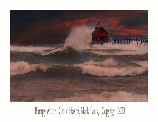 Bumpy Water-Grand Haven Giclee