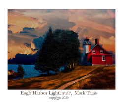 Eagle Harbor Lighthouse-Keweena Peninsula Giclee