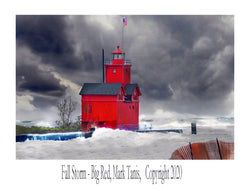 Fall Storm-Big Red  Giclee