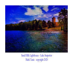 Sand Hills Lighthouse-Lake Superior Giclee