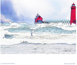 Solo Flight with the Waves Giclee