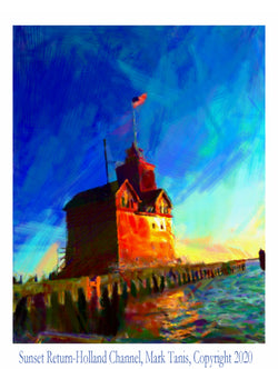 Sunset Return-Holland Channel Giclee