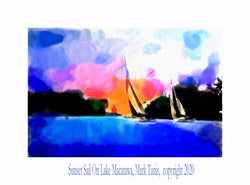 Sunset Sail On Lake Macatawa Giclee