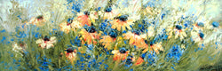 Blackeyed Susans and Chicory Giclee