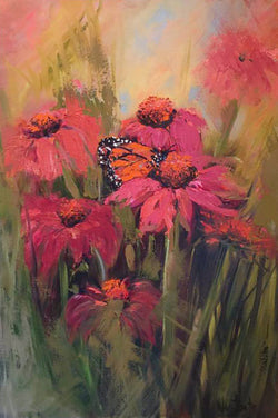 Butterfly Surprise Oil Painting