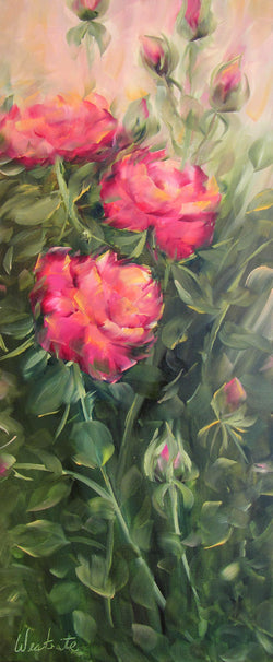Fragrant Cloud Roses Oil Painting