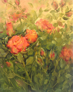 Nestled Roses Oil Painting