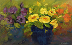 Pansy Society Oil Painting