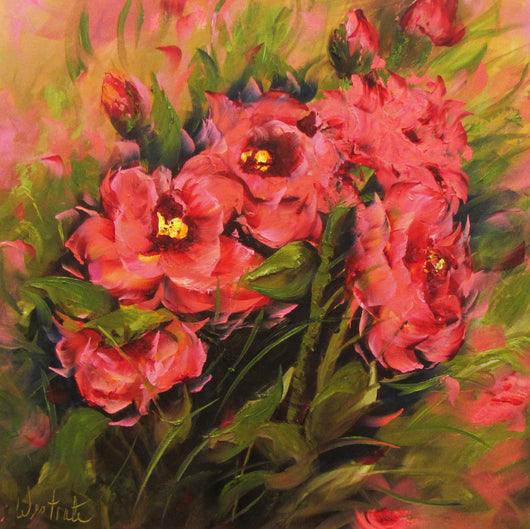 Pink and Bold Oil Painting