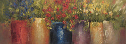 Potted Wildflowers Oil Painting