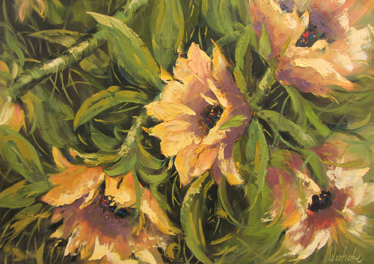 Sunny Sunflowers Oil Painting