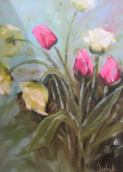 Time for Tulips Oil Painting