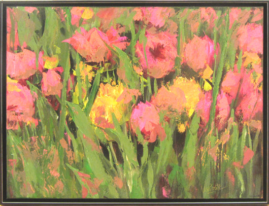Vibrant Delight Oil Painting Framed
