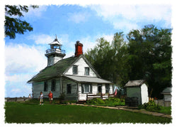 Old Mission Lighthouse Giclee