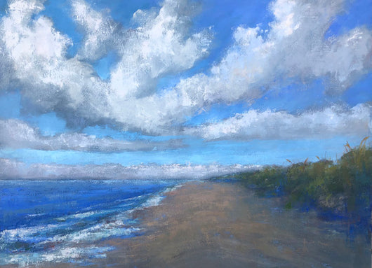 Beach Blues Oil Painting