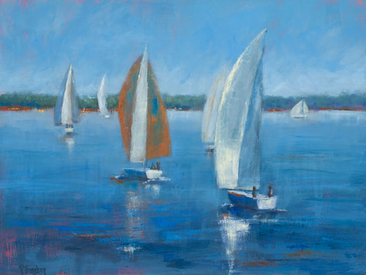 Down Wind Run Oil Painting
