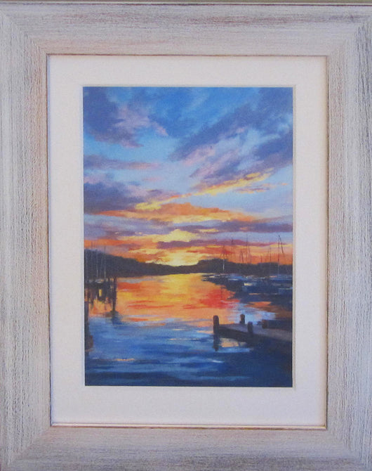 Evening Show Framed Giclee