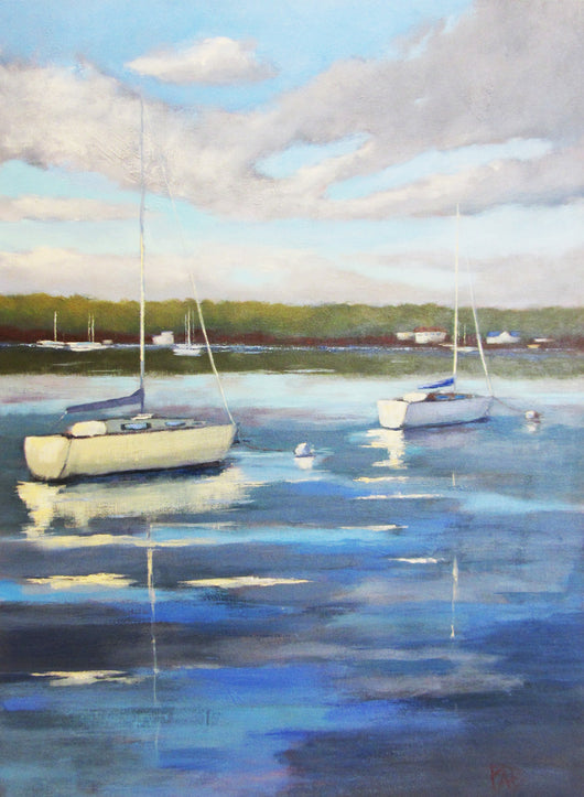 Lake Days Oil Painting