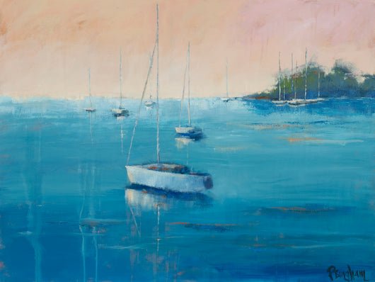 Serene Harbor Oil Painting
