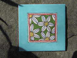 Daisy Patchwork Ceramic Tile