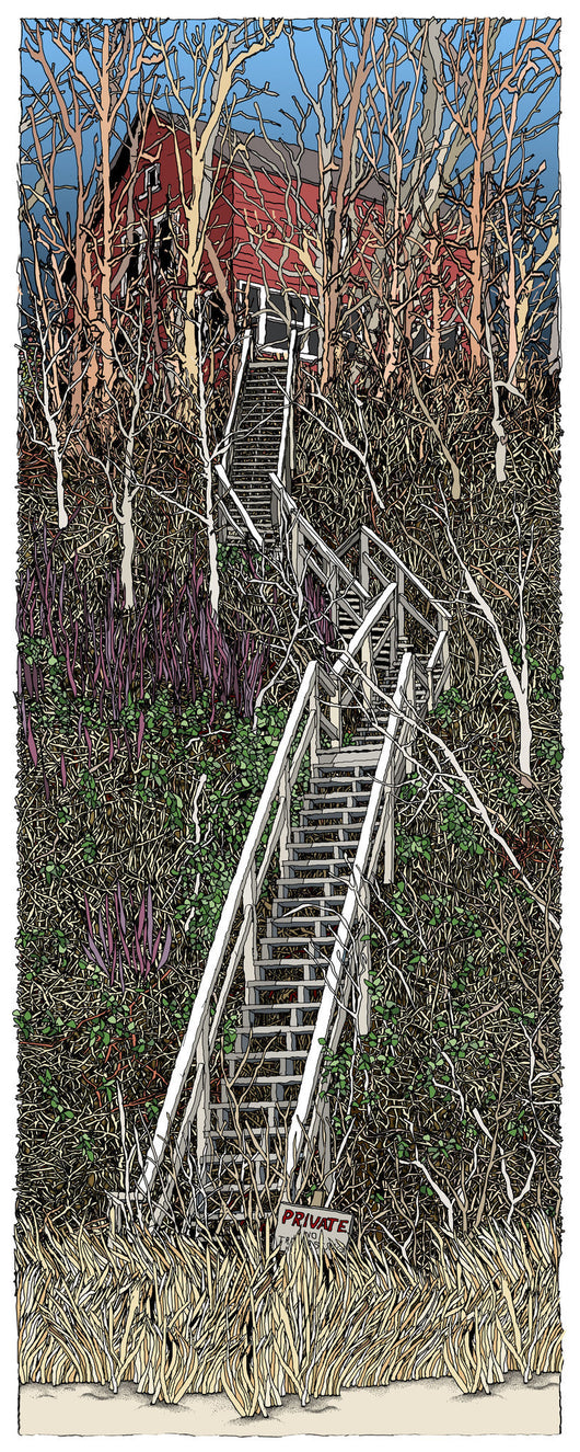 Private Stairs Giclee