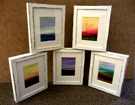 Framed Mini Abstract Landscape Acrylic Painting