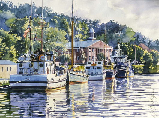 The Boat Harbor Giclee