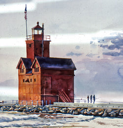 Last Light, Holland Harbor Squared Giclee