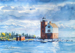 Lighthouse On Mackinac Island I Giclee