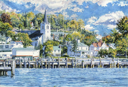 Arrival At Mackinac Island/Mackinac Island Docks Giclee