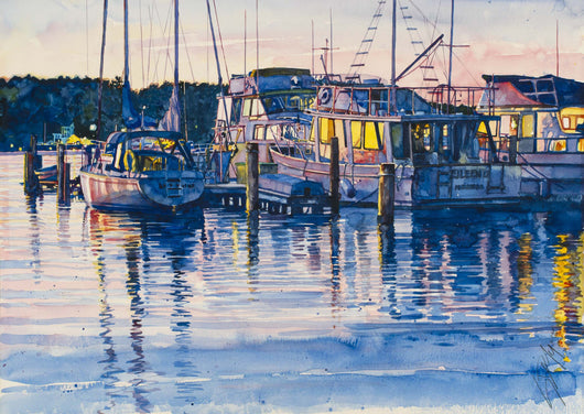 Afterglow On Lake Macatawa Giclee