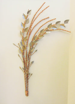 Copper Wheat with Silver Beech Leaves