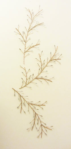 Copper Wire Silver Leaf Branch