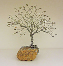 Deeply Rooted Spring Tree Metal Sculpture