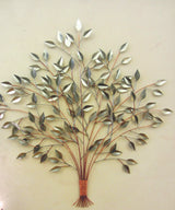 Full And Fresh Copper and Silver Tree Wall Sculpture