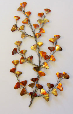 Ginkgo Branch Wall Sculpture