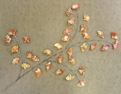 Ginkgo Leaves Wall Sculpture