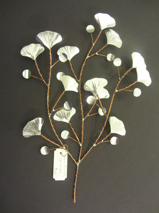 Ginkgo Leaves and Berries Silver