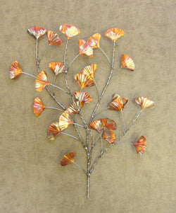 Layered Ginkgo Leaves Wall Sculpture