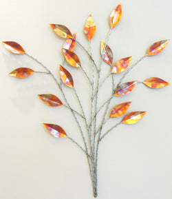 Patinated Leaves with Stems Medium