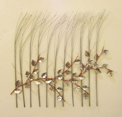 Silver Grass with Copper Vine and Silver Leaves