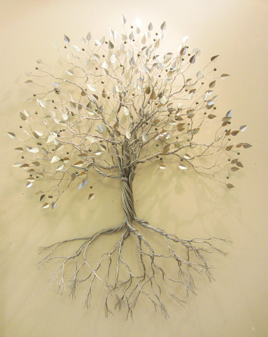 Silver Rooted Tree with Berries
